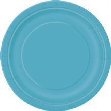 "Small Caribbean Teal Plates - 7"" Paper Plates (20pcs)"
